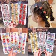 20/40 sztuk/zestaw nowe dziewczyny śliczne kolorowe kreskówki Scrunchies uchwyt kucyk opaski do włosów dla dzieci piękny z pałąkiem na głowę moda akcesoria do włosów