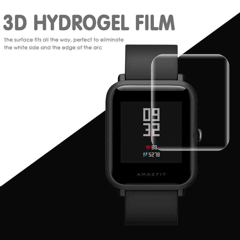 Watch Accessories 2pcs Transparent Screen Protective Film Waterproof Film For Huami Amazfit Bip Youth Good Folding Resistance