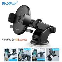 Raxfly Voorruit Mount Auto Telefoon Houder Voor Telefoon In Auto Voor Samsung S9 360 Rotatie Autohouder Voor Iphone Telefoon stand Ondersteuning