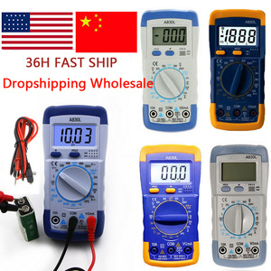 Urijk Handheld Digital Multimeter LCD Backlight Portable AC/DC Ammeter Voltmeter Ohm Voltage Tester Meter Multimetro Measurement(China)