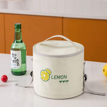Lunch-Bags Cooler Insulated Freezable-Container Picnic Reusable Waterproof Round