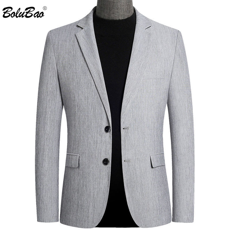 BOLUBAO Fashion Brand Men Blazers Spring Autumn Men's Slim Solid Color Suit England Style Casual Blazer Male 1