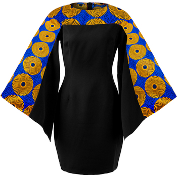 African dresses for women long sleeve dress black slim dress autumn dress african traditional print dress women fashion dress original 2 pieces set dress 2017 new autumn slim fashion temperament black lace dresses women