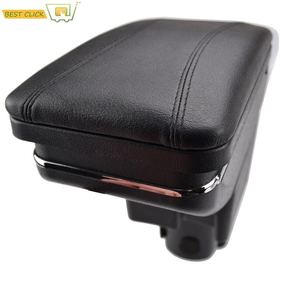 Caja de almacenamiento para consola central, apoyabrazos giratorios para Honda Fit Jazz, Hatchback, 2002, 2008, 2003, 2004, 2005, 2006, 2007