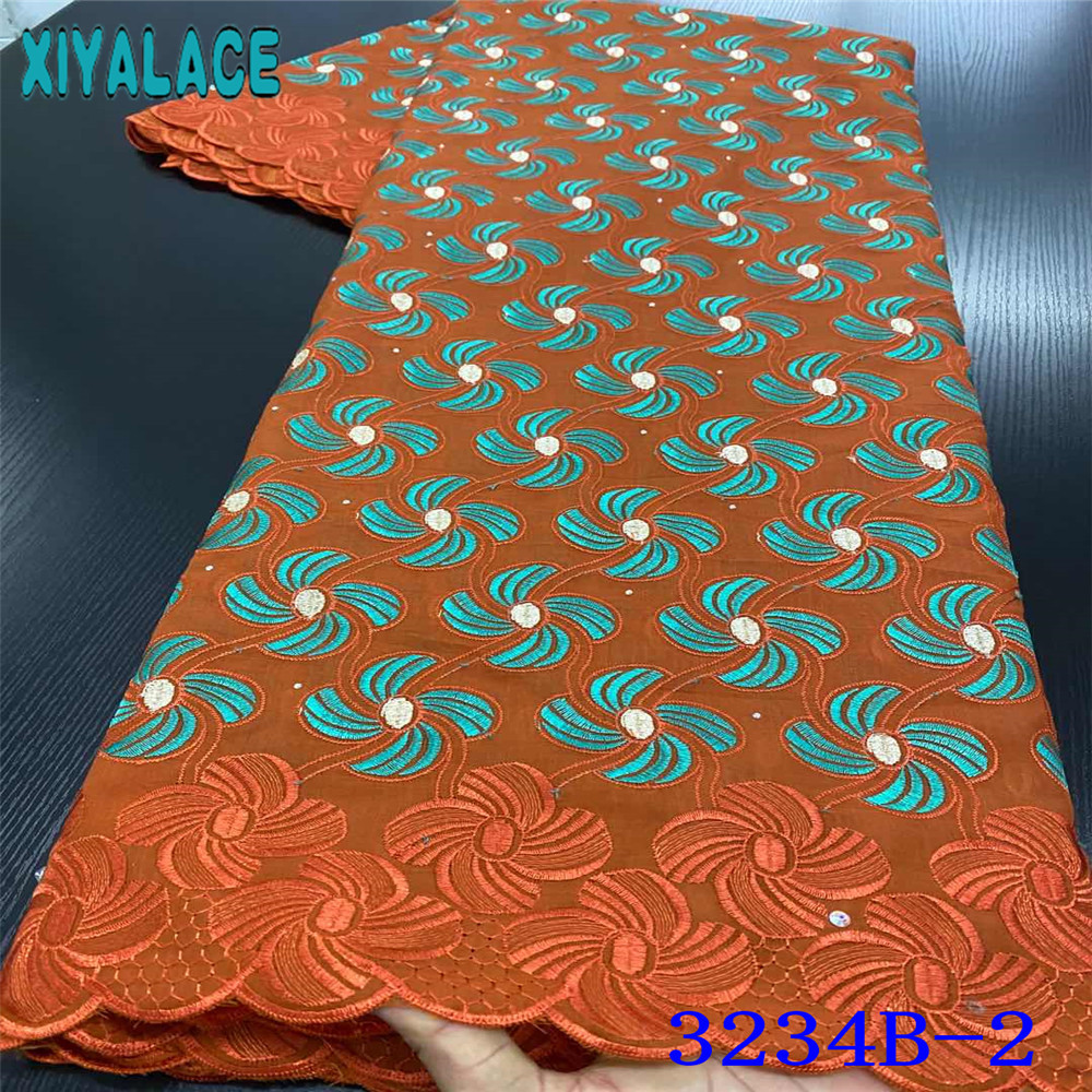 African Lace Fabric 2020 Swiss Voile Lace In Switzerland Latest Cotton Laces Embroidered Fabrics For Sewing Supplies KS3234B