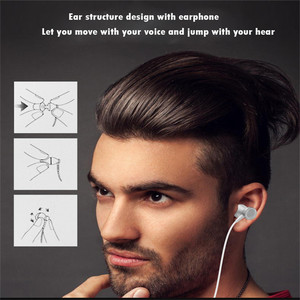 Image 5 - Metal Adsorption Magnet Earphone Headphone For Xiaomi Stereo Bass Headset Metal Wired Earphone HiFi Headphones Mic 2019