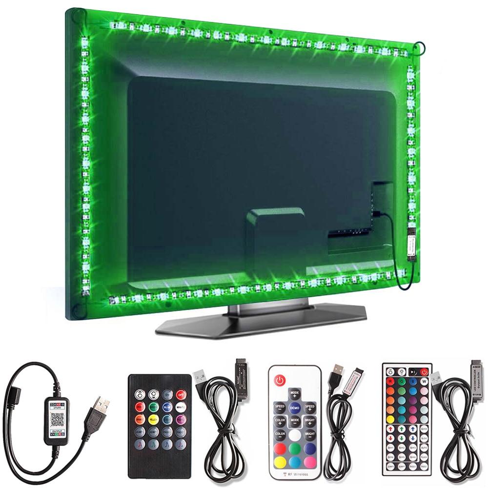Bluetooth//Remote Control RGB LED Strip Light Bluetooth Control Background Lights