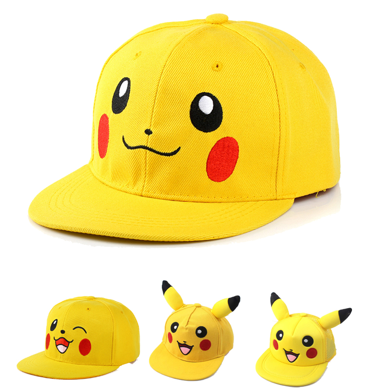 Cartoon Children Pikachu Baseball Hat For Adult Kids Outdoor Mesh Hat Trucker Cap Adjustable News