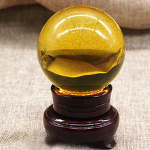 Sand Sphere Crystal Mineral Carved-Crafts Goldstone Chakra-Healing Globe-Ball 20/30/40mm-amber