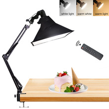 Support de bras de Suspension de bureau de téléphone de photographie + lampe à LED 35W + Kit déclairage continu de Softbox de réflecteur pour la prise de vue vidéo de Photo