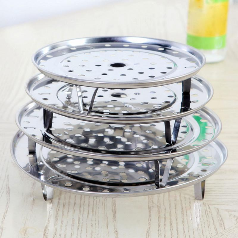 6 S/M/L/XL 4 Sizes Stainless Steel Steamer Rack Insert Stock Pot Steaming Tray Stand Cookware Tool