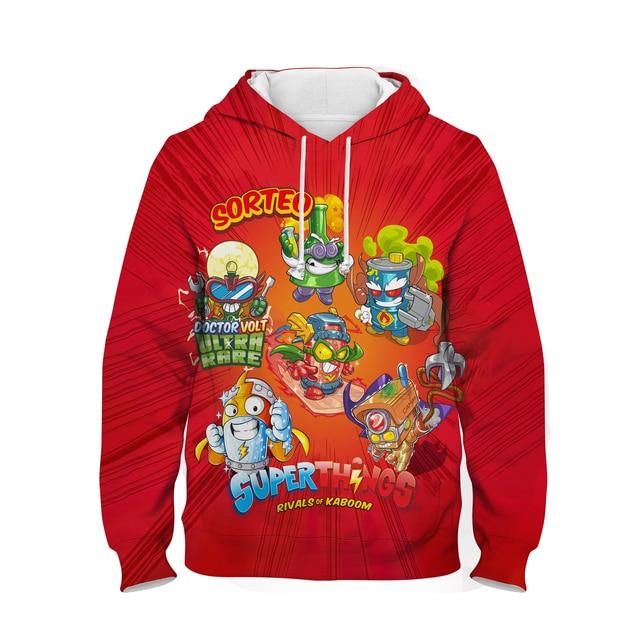Children Super Zings Hoodie Boys Girls Cartoon 3D Printed Pullovers Kids Superzings Sweatshirt Harajuku Streetwear Spring Winter 5