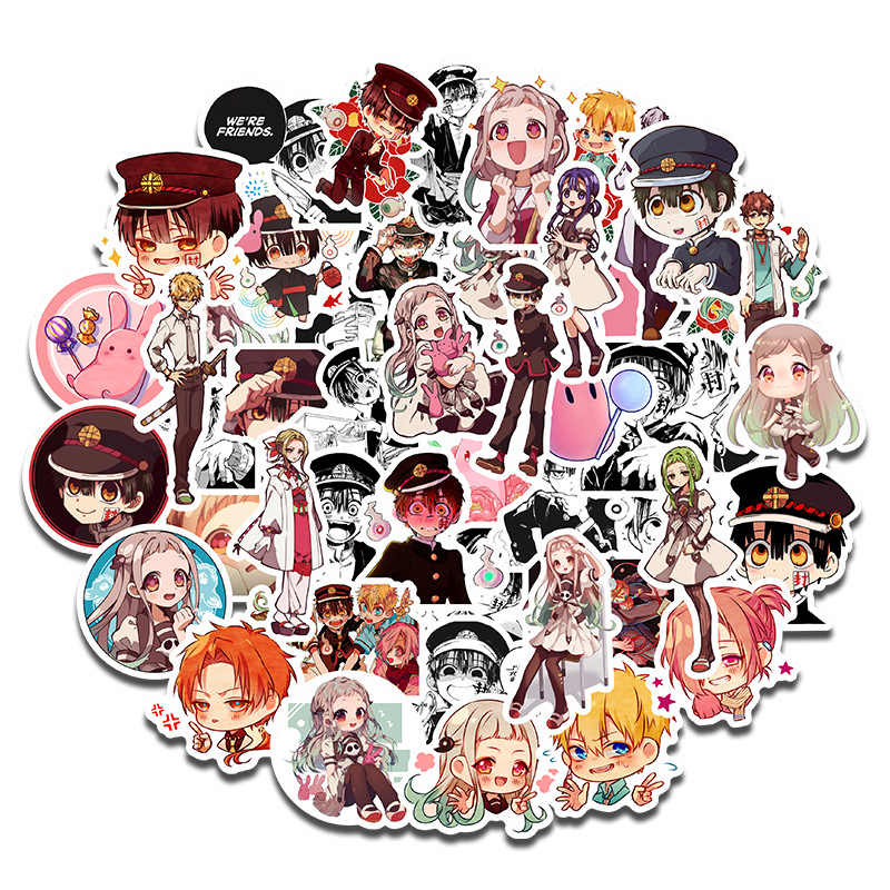 Japan Anime Wc Gebonden Hanako Kun Sticker Cosplay Badge Yugi Amane Nene Yashiro Cartoon Leuke Notebook Telefoon Tags