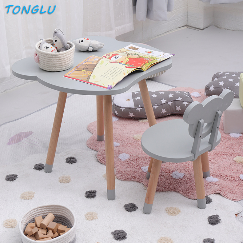 Kids Furniture Simple Children's Solid Wood Table And Chair Set Writing Games Learning Tables And Chairs Desk Dining Table Set