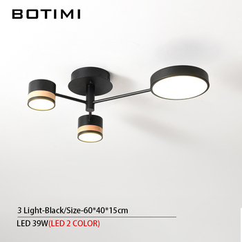 BOTIMI Home Decor LED Ceiling Lights For Living Room Round Metal Ceiling Lamps Surface Mounted Dining Lustres Bedroom luminaires 18