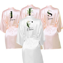 Wedding Dressing Gown Personalised BRIDE&Bridesmaid Satin Robe 10colors Robes Custom Robes for Gifts Maid of Honor Bride Tribe