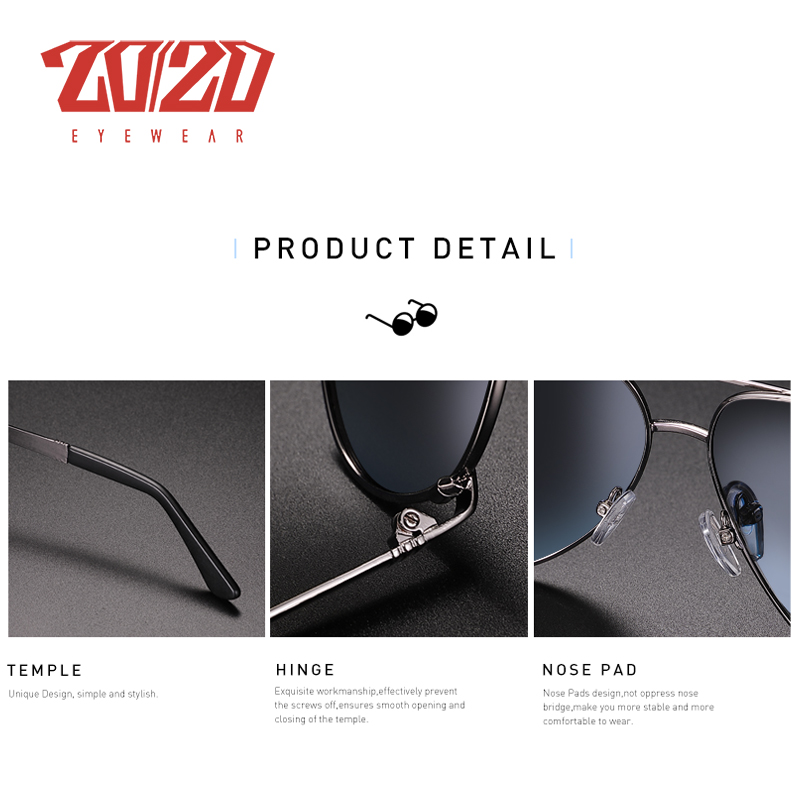 20/20 New Vintage Metal Polarized Sunglasses Classic Brand Sun glasses Coating Lens Driving Fishing Outdoor Shades oculo AK17131 4
