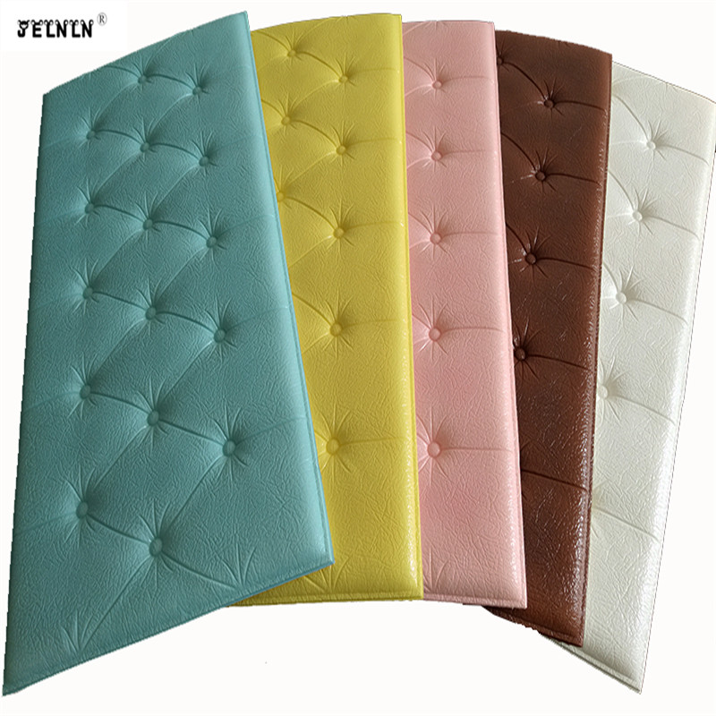 Thicken Self-adhesive Headboard Soft Bag Anti-collision Wall Stickers Tatami Soft  Stickers Imitation Soft Bag Bed Wall Stickers