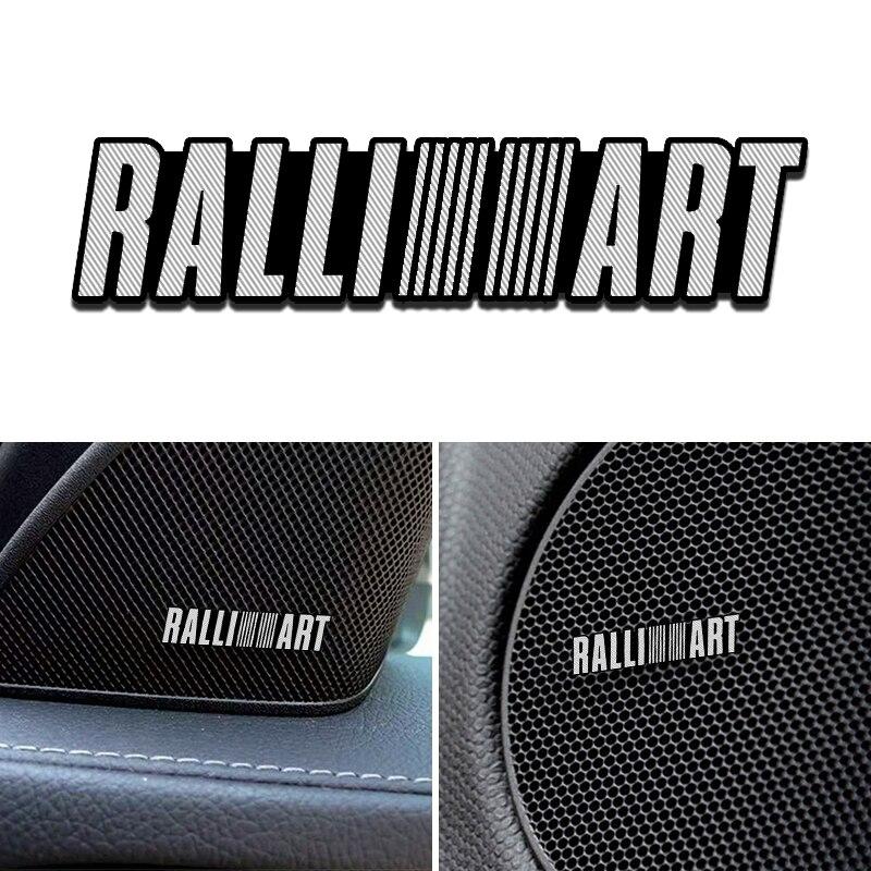 4 шт спикер алюминиевый 3D стикер Труба Рог Звук буквы наклейки автомобильный Стайлинг для mitsubishi RalliArt galant автомобильные аксессуары