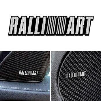 Pegatinas 3D de aluminio para altavoz de 4 uds, pegatinas con letras de sonido y bocina de trompeta, estilismo para el coche para mitsubishi RalliArt galant, accesorios para el coche