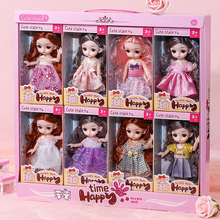 2021 NEW Kids 16cm BJD Dolls 13 Movable Joints Fashion Cute Princess Clothes Suit Multicolor Hair Girl DIY Make-Up Gift Toy