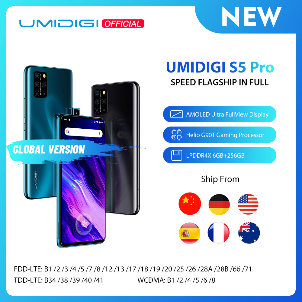 In Stock UMIDIGI S5 Pro Helio G90T Gaming Processor 6GB 256GB Smartphone FHD+ AMOLED In screen Fingerprint Pop up Selfie Camera|Cellphones| - AliExpress