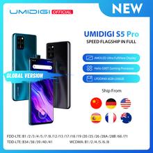 UMIDIGI-Smartfon S5 Pro Helio G90T procesor do gier 6GB 256GB FHD + AMOLED odcisk palca w ekranie wyskakujący aparat do selfie w magazynie tanie tanio Nie odpinany CN (pochodzenie) Android Rozpoznawania linii papilarnych Inne 48MP 4680 Pompy Express3 0 Smartfony Pojemnościowy ekran