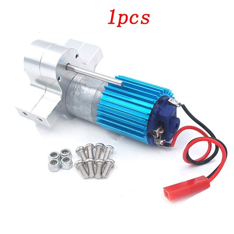 1 pièces WPL changement de vitesse boîte de vitesses en métal boîte de vitesses avec moteur 370 pour 1/16 voitures de ramassage militaires motoréducteur avec dissipateur de chaleur JST Plug