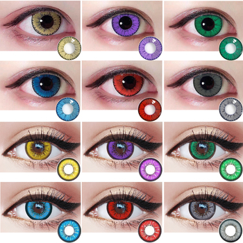 Cosplay Lenses Halloween Colored Contact Lens for Eyes Red Bule Lenses Color Cute Little Devil Anime Contact Lense Anime Fair image