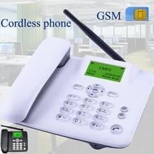 Беспроводной GSM 900 1800 МГц Поддержка sim-карты стационарный телефон белый черный стационарный телефон стационарный беспроводной телефон домашний офис дом