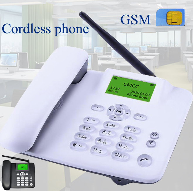 Cordless GSM 900 1800 MHz Support SIM Card Fixed Phone White Black Landline Phone Fixed Wireless Telephone Home Office  House