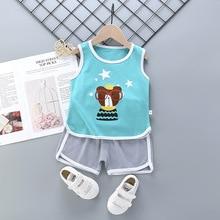 цена на New Summer Casual Children Sets Boys Girls T-Shirt+Pants Toddler Boys T Shirts Sets Kids Clothes Roupas Infantis Menina 18M-7Y