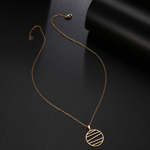 DOTIFI ожерелье из нержавеющей стали для женщин и мужчин, ожерелье с подвеской в виде геометрических линий, ювелирные изделия для помолвки