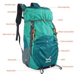 Image 4 - 山折りたたみバックパック軽量バックパックハイキングpackableバックパック観光mochila屋外plegable軍事bagpack 2019