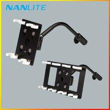 Support de support de support de lumière pour Nanlite Pavotube Double banque 15c 30c pince de tube de lumière pince col de cygne
