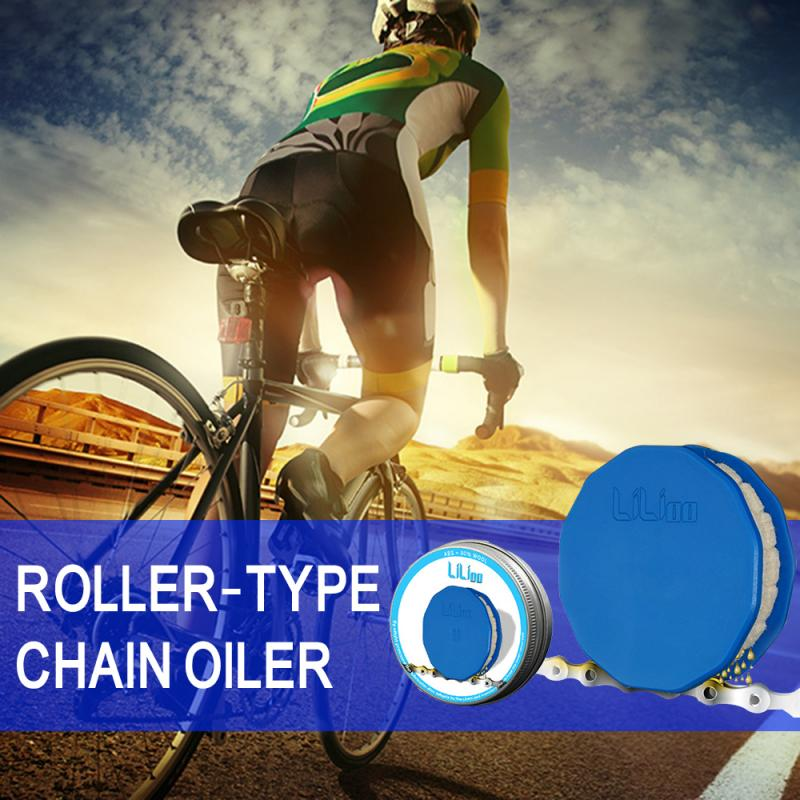 Bicycle Chain Refueling Tool  Bicycle Chain Cleaner Scrubber Wash Tool Lubrication Maintenance ABS Chain Roller Type Chain Oiler