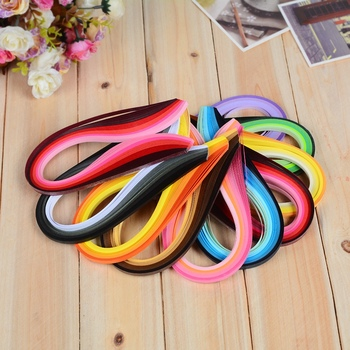 100PCS Quilling Paper Strips Gradient Color Quilling Paper Strips Paper Quilling Tools For Diy Crafts And Paper Arts image