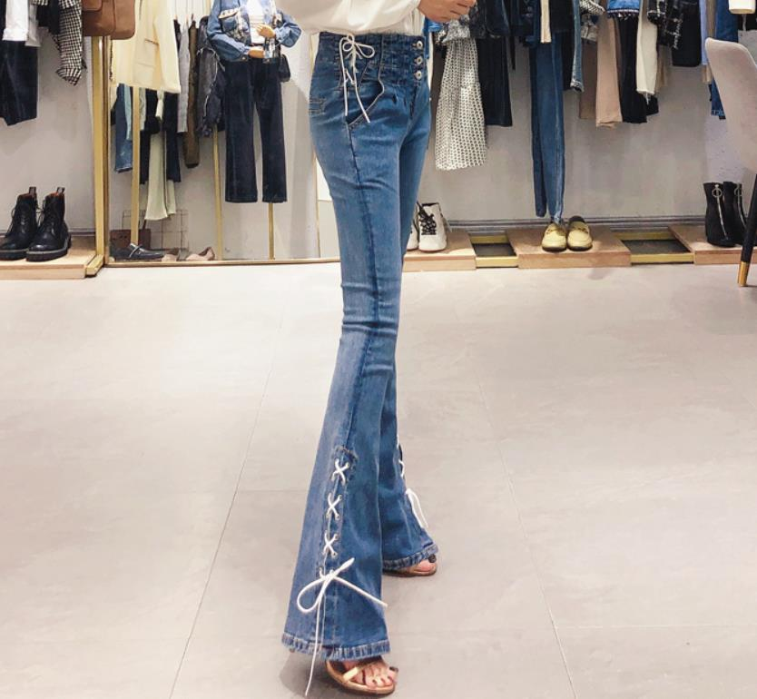 Женские брюки, зимние, матовые, толстые, шерстяные штаны, верхняя одежда, кашемировые, шерстяные джинсы, обтягивающие, с высокой талией, элас... - 2