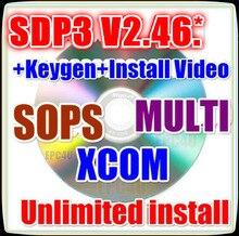 2021 v2.46.3 + desbloqueado keygen + instalar vídeo/v2.45.2/v2.27 sdp3 multi software xcom v2.30 sops