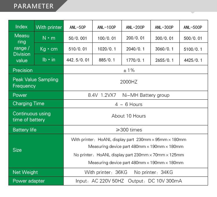 Цифровой измеритель вращающего момента торсионный тестер с принтером(ANL-300P) 300N. m