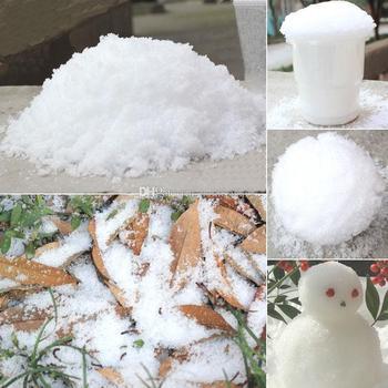 Świąteczne dekoracje natychmiastowy śnieg magiczne rekwizyty DIY natychmiastowy sztuczny śnieg w proszku symulacja sztuczny śnieg na nocna impreza tanie i dobre opinie CN (pochodzenie) Proszku śniegu