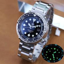 Mechanical Watches Ceramic Bezel Tuna NH35 Steeldive 1975 300m Automatic-Steel Men's