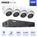 Сетевая система видеонаблюдения ANNKE, 8 каналов FHD 5 Мп POE, сетевой видеорегистратор H.265 + 6 МП, 4 водонепроницаемые камеры POE 5 Мп с аудиовходом