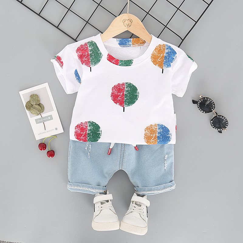 New Style Children's Short Sleeved Two-Piece Set L4.19 4