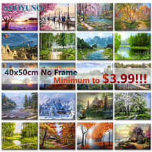 SDOYUNO 40x50cm Frameless painting by numbers Nature Landscape On Canvas pictures by numbers Home Decoration DIY For Unique Gift(China)