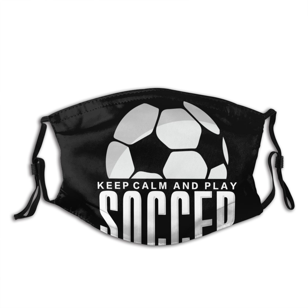 Protective Mask With Filter Keep Calm And Love Soccer Anti Dust PM2.5 Reuse Adult Teen Child Girl
