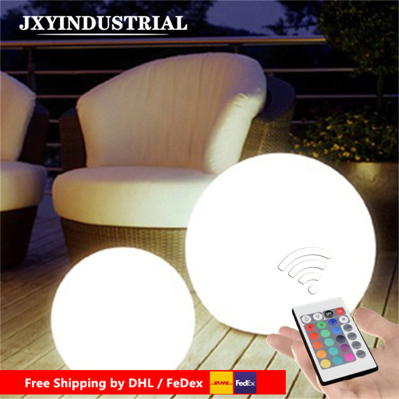 D25cm Magic RGB Led Ball Outdoor Diameter 25cm Glowing Sphere Waterproof Pool Color Changing Ball For Christmas By DHL FEDEX