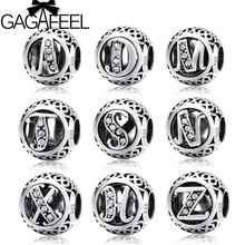 GAGAFEEL Silver Beads Hollow Letter and Star Sign Charms Beads For DIY Bracelet Necklace DIY Jewelry Making Clearance(China)