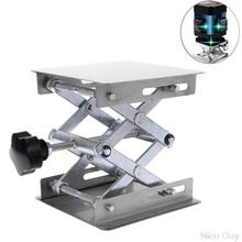Laboratory Lifting Platform Stand Rack Scissor Jack Bench Lifter Table Lab 100x100mm Stainless Steel Lifting Platform Mr18 19