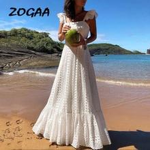2019 vestidos ボヘミアン白レースドレス自由奔放に生きるビーチシックなドレスの女性のマキシかわいい女性のプラスサイズ夏ロング大サイズ Zogaa